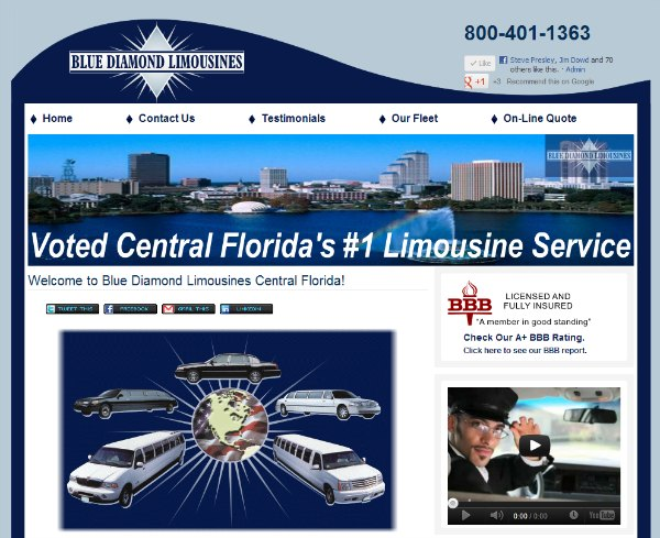 Blue Diamond Limousines Orlando